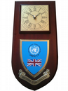 British Contingent United Nations Cyprus Regimental Wall Plaque Clock